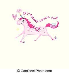 Vector illustration of a unicorn