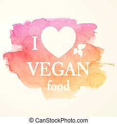 Vegan Food Emblem