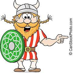 viking pointing to something