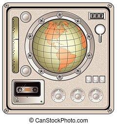 vintage control panel icon