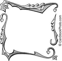 vintage gothic square border frame