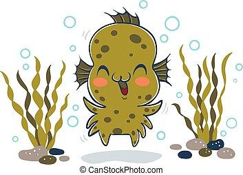 kid in Aqua monster costume.