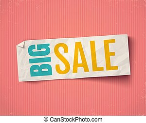 Vector banner for big sale.