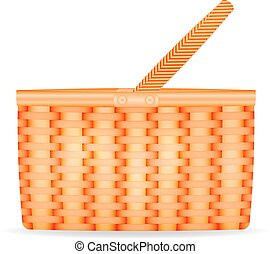 Vector illustration of a wicker basket