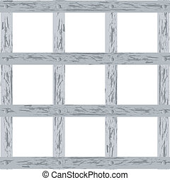 Vector illustration of a wooden lattice on a white background