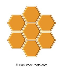 vector illustration of a yellow geometric