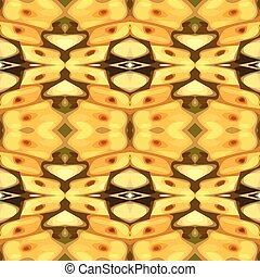 Vector illustration of a yellow mot