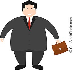 Vector illustration of a young successful businessman on a white background. Isolate. The