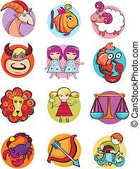 zodiac - vector illustration of a zodiac set