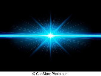 Vector illustration of abstract background with blurred magic neon blue light rays