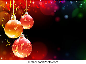 Christmas decorations - Vector illustration of abstract ...