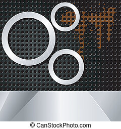 Vector illustration of abstract background with metal rings