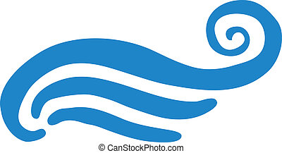 Vector illustration of abstract blue wave