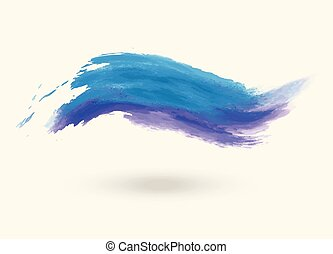 Vector illustration of abstract blue wave on white
