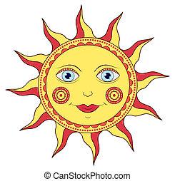 abstract cartoon sun