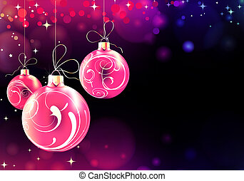 Christmas background - Vector illustration of Abstract...