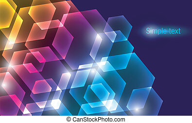 Abstract color glowing background - Vector illustration of...
