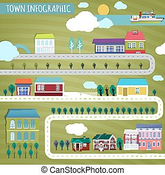 town infographics
