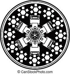 Mandala Design - Vector Illustration of Abstract Geometrical...