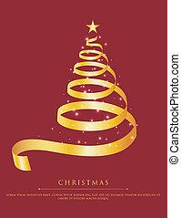 Abstract gold christmas tree