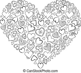 heart  on white background.