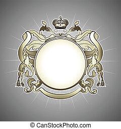 golden heraldic frame