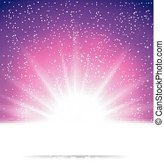 Abstract magic light background - vector illustration of...