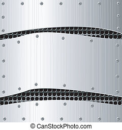 Vector  illustration of abstract  metal background