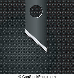 Vector illustration of abstract metal background with  knife