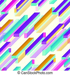 Vector illustration of abstract multicolored geometric rectangles background