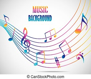 Abstract musical background - Vector illustration of...