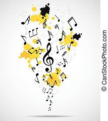 Abstract musical background with no - vector illustration of...