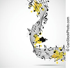 Abstract musical background with no