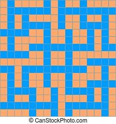 crossword - Vector illustration of abstract orange blue ...