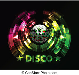 Vector illustration of abstract party Background with disco ball