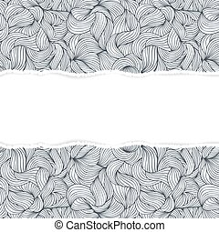 abstract seamless pattern with torn paper