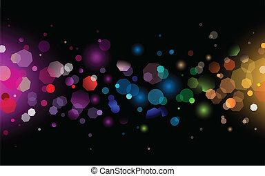 Sparkling Light - Vector Illustration of Abstract Sparkling ...