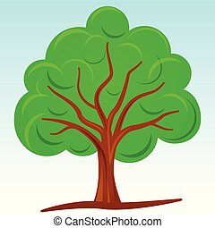 Vector illustration of abstract tree