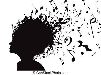 Young girl - Vector illustration of abstract Young girl face...