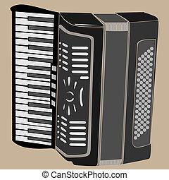 Vector illustration of accordion.