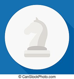 Vector Illustration Of Active Symbol On Chess Flat Icon....