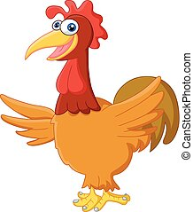 Adorable rooster cartoon posing - vector illustration of...