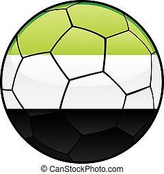 Afghanistan flag on soccer ball