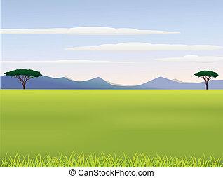 Vector illustration of African landscape