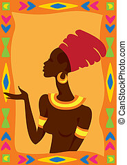 Vector illustration of African Woman