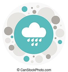 Vector Illustration Of Air Symbol On Rainfall Icon. Premium Quality Isolated Rainstorm Element In Trendy Flat Style.