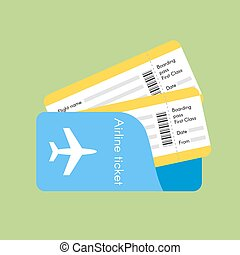 Vector illustration of airline tickets.