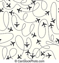 Airplane routes icon on a white background