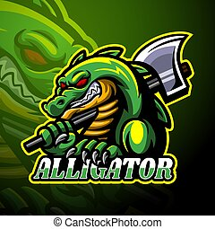 Alligator esport logo mascot design