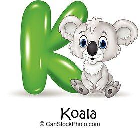 Alphabet K with koala